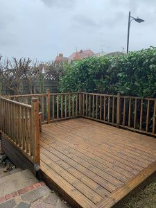 Washed and cleaned Decking Westcliff on Sea